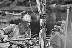 1150th 862 2012古老周年纪念诞生称首都投入的节日首先在这里ladoga老王子规则rurik ・俄国俄国国家地位对 免版税图库摄影