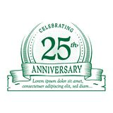 25th anniversary design template. 25 years logo. Twenty-five years vector and illustration. vector illustration