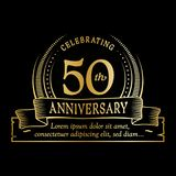 50th anniversary design template. 50 years logo. Fifty years vector and illustration. stock illustration