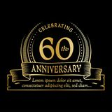 60th anniversary design template. 60 years logo. Sixty years vector and illustration. 60 years anniversary celebration design template. Sixty years logo. 60th vector illustration