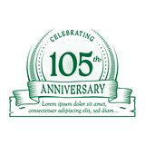 105th anniversary design template. 105 years logo. 105 years vector and illustration. 105 years anniversary celebration design template. 105years logo. 105th vector illustration