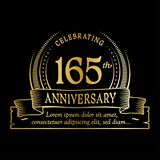165th anniversary design template. 165 years logo. 165 years vector and illustration. 165 years anniversary celebration design template. 165years logo. 165th stock illustration