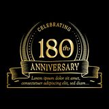 180th anniversary design template. 180 years logo. 180 years vector and illustration. 180 years anniversary celebration design template. 180years logo. 180th vector illustration