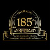 185th anniversary design template. 185 years logo. 185 years vector and illustration. 185 years anniversary celebration design template. 185years logo. 185th stock illustration