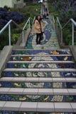 16th aleja Taflujący kroki Projektują golden gate wzrostów teren SanFrancisco Zdjęcia Royalty Free
