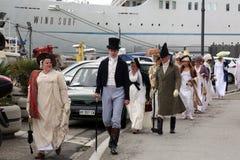 200th aniversário da chegada do ` s de Napoleon em Portoferraio, a Ilha de Elba Imagem de Stock Royalty Free