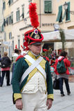 200th aniversário da chegada do ` s de Napoleon em Portoferraio, a Ilha de Elba Imagens de Stock Royalty Free