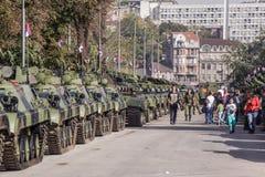 70th aniversário da libertação de Belgrado Fotografia de Stock