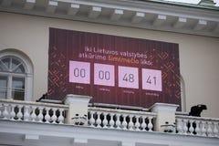 100th aniversário da restauração do statehood lituano Imagem de Stock Royalty Free