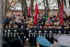 100th aniversário da restauração do statehood lituano Imagens de Stock