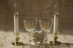 (50th) aniversário quinquagésimo Fotos de Stock