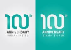 100th anniversaire avec un symbole d'infini Conception créatrice Photo stock