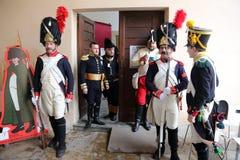 200th anniversaire de l'arrivée du ` s de napoléon dans Portoferraio, l'Île d'Elbe Image stock
