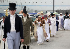 200th anniversaire de l'arrivée du ` s de napoléon dans Portoferraio, l'Île d'Elbe Images stock
