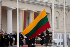 100th anniversaire de la restauration du statehood lithuanien Images libres de droits