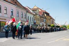 140th anniversario del corpo dei vigili del fuoco volontario di Pezinok Fotografia Stock Libera da Diritti
