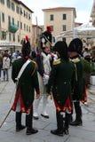 200th anniversario dell'arrivo del ` s di millefoglie in Portoferraio, Elba Fotografia Stock