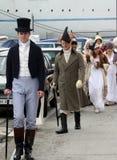 200th anniversario dell'arrivo del ` s di millefoglie in Portoferraio, Elba Immagine Stock