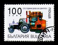 100th anniversario dell'invenzione del motore di Diezel, trasporto s Fotografia Stock Libera da Diritti