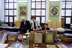 140th anniversario di arte di St Petersburg e dell'accademia di industria Fotografie Stock Libere da Diritti
