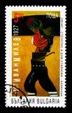 100th anniversario di Ivan Milev, serie, circa 1997 Fotografia Stock