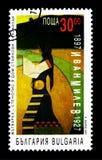 100th anniversario di Ivan Milev, serie di anniversario, circa 1997 Immagine Stock