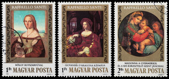 500th anniversario di nascita di Raphael Fotografie Stock
