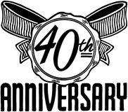 40th Anniversary Royalty Free Stock Image