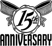 15th Anniversary royalty free illustration