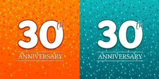 30th Anniversary Background - 30 years Celebration. Birthday Eps10 Vector.  stock illustration