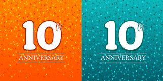 10th Anniversary Background - 10 years Celebration. Birthday Eps10 Vector. 10th Anniversary Background - 10 years Celebration. Birthday Eps10 Vector vector illustration