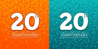 20th Anniversary Background - 20 years Celebration. Birthday. 20th Anniversary Background - 20 years Celebration. Birthday Eps10 Vector royalty free illustration