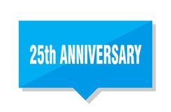 25th anniversary price tag. 25th anniversary blue square price tag Stock Images