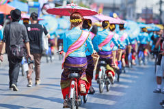 30th anniversary Bosang umbrella festival in Chiangmai province of Thailand Stock Image