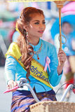 30th anniversary Bosang umbrella festival in Chiangmai province of Thailand. 30th anniversary Bosang umbrella festival with woman in traditional costume during Royalty Free Stock Photography