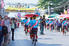 30th anniversary Bosang umbrella festival in Chiangmai province of Thailand Royalty Free Stock Images