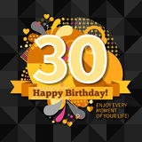 30th Anniversary Card Stock Image
