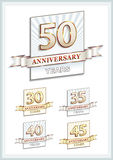 50th anniversary Stock Images