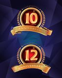 15th and 25th anniversary celebrating classic  logo on gra. Y background design Vector Illustration