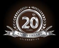 20th anniversary celebrating classic vector logo design silver c. Olor Royalty Free Illustration
