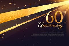 60th anniversary celebration card template Stock Image