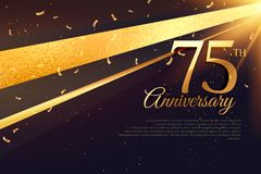 75th anniversary celebration card template Royalty Free Stock Photos
