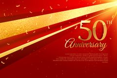 50th anniversary celebration card template. Vector Stock Images