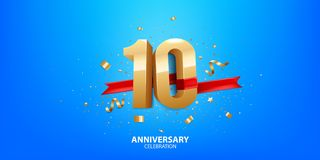 10th Anniversary celebration royalty free stock image