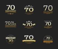 70th anniversary celebration logo set. 70 year jubilee banner. Vector illustration Stock Photo