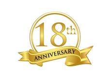 18th anniversary celebration logo vector stock illustration
