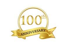 100th Anniversary celebration logo vector stock illustration