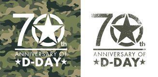 70th anniversary of D-Day royalty free illustration