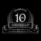 10th anniversary design template. 10 years logo. Ten years vector and illustration. 10 years anniversary celebration design template. Ten years logo. 10th vector illustration