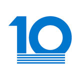 10th anniversary emblem. Creative design of 10th anniversary emblem Stock Photo